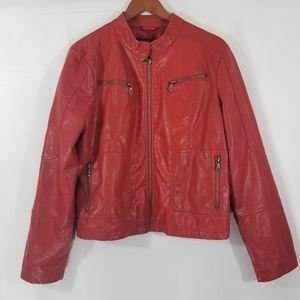 New Look Faux Leather Jacket Sz XL